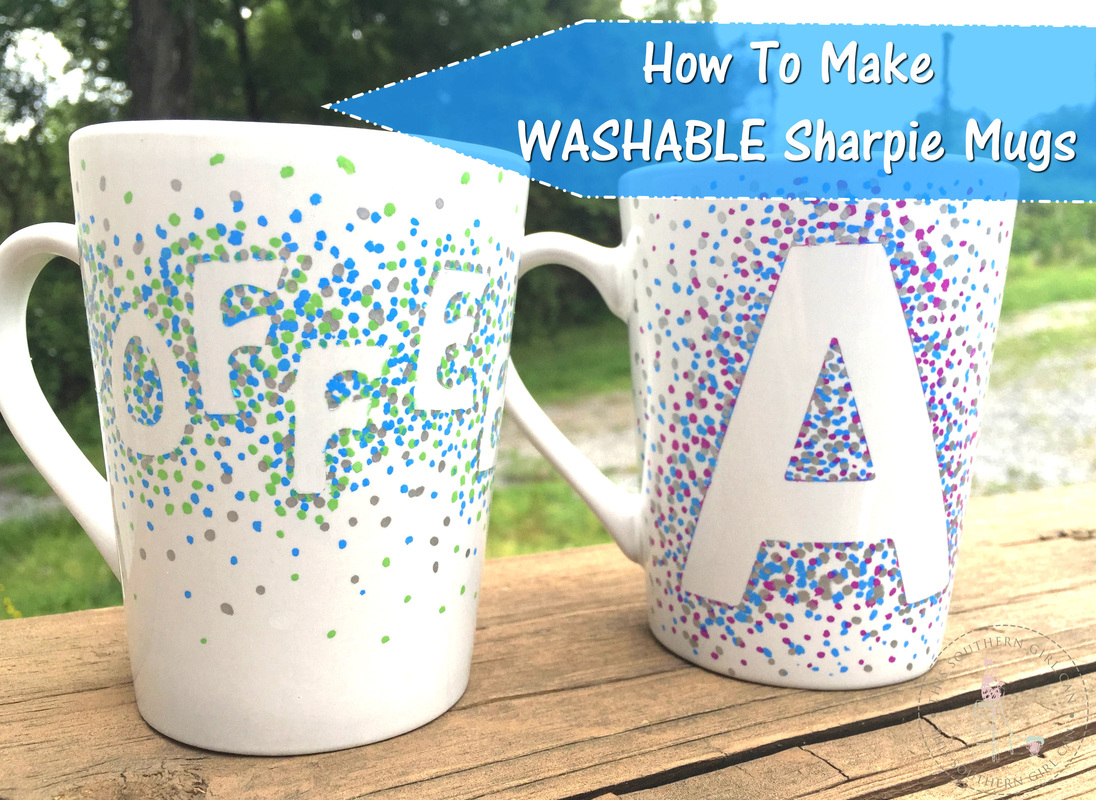 how to make washable sharpie mugs